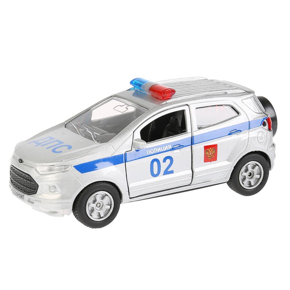 Купить Машина инерционная металлическая - Ford Ecosport – Полиция, 12 см, открываются двери, Технопарк