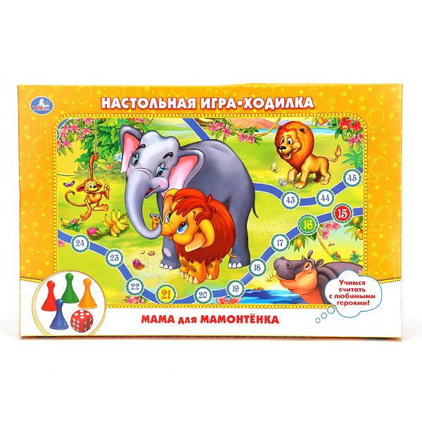 Купить Настольная игра-ходилка «Приключения Мамонтенка», Умка