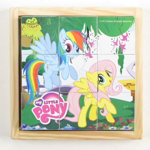 Играем вместе Деревянные кубики «My Little Pony» 9 шт.