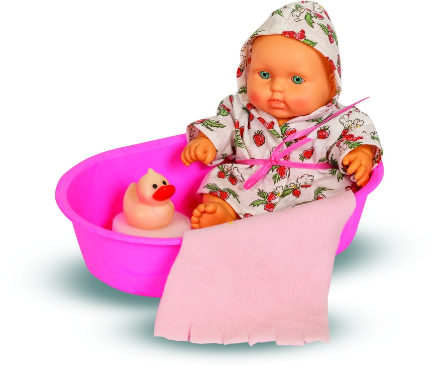 Кукла - Карапуз в ванночке, девочка, 20 смРусские куклы фабрики Весна<br>Кукла - Карапуз в ванночке, девочка, 20 см<br>
