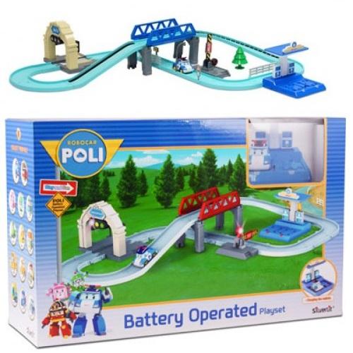 Игровой набор - Трек средний с Умной машинкой ПолиRobocar Poli. Робокар Поли и его друзья<br>Игровой набор - Трек средний с Умной машинкой Поли<br>