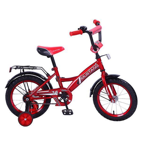 Детский велосипед – Mustang, 14, GW-тип, красно-черныйВелосипеды детские<br>Детский велосипед – Mustang, 14, GW-тип, красно-черный<br>