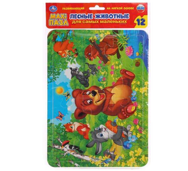 Макси-пазл – Лесные животные, 12 деталейПазлы для малышей<br>Макси-пазл – Лесные животные, 12 деталей<br>