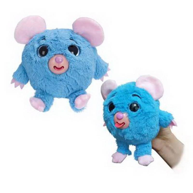 Мягкая игрушка из серии Дразнюка-Zoo – Голубая мышка, показывает язык, 13 см., в пакете фото