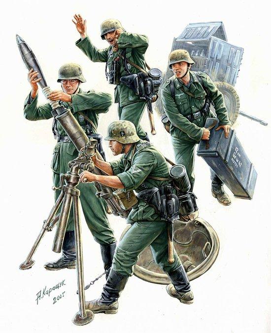 Купить Модель для склеивания - Немецкий 120-мм миномёт с расчётом, ZVEZDA