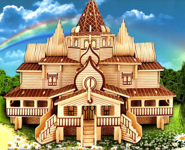 Сборная деревянная модель  Русский терем - Пазлы, артикул: 84286