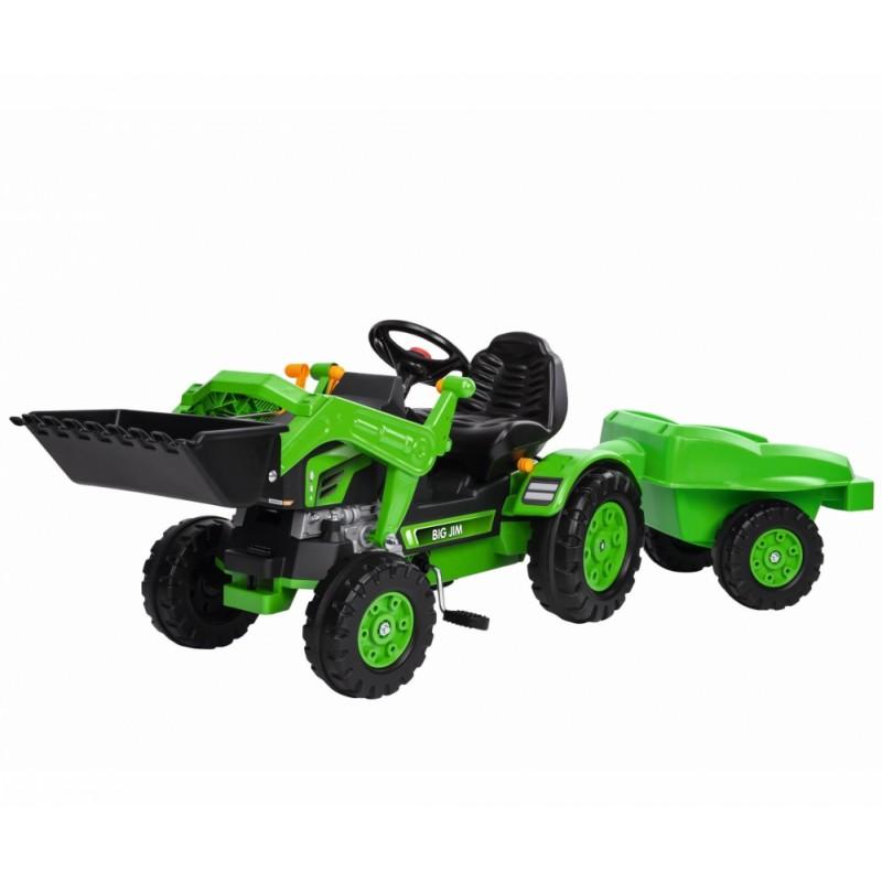 Детский педальный трактор с прицепом