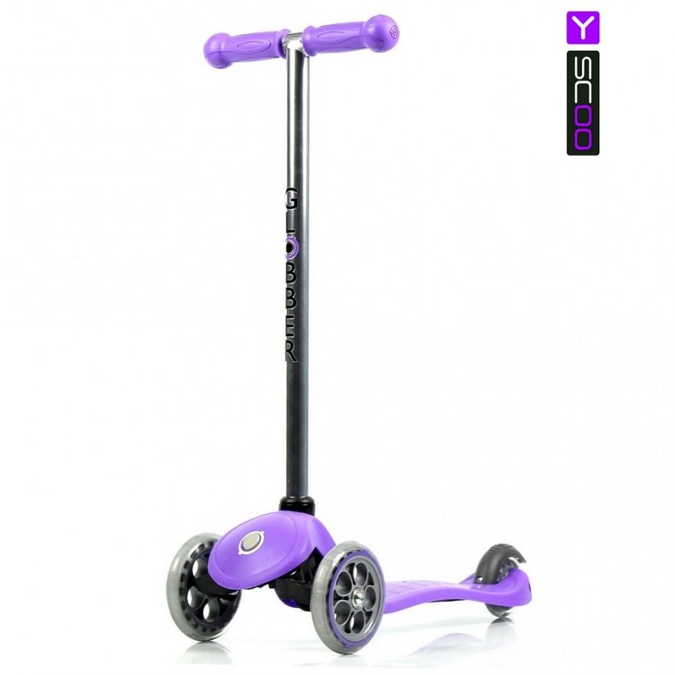 Самокат RT Globber My free FIXED с блокировкой колес, purpleТрехколесные самокаты<br>Самокат RT Globber My free FIXED с блокировкой колес, purple<br>