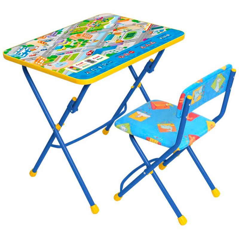 Набор детской мебели  Правила дорожного движения, цвет  синий - Парты, артикул: 144796