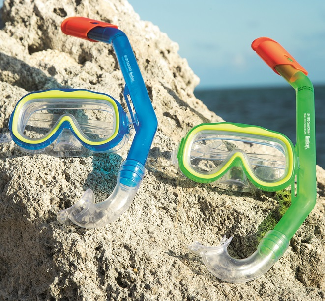 Купить Набор для ныряния - Исследователь с маской и трубкой, от 3 лет, 2 цвета, Bestway