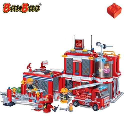 Конструктор - Пожарная станция, 702 деталиКонструкторы BANBAO<br>Конструктор - Пожарная станция, 702 детали<br>