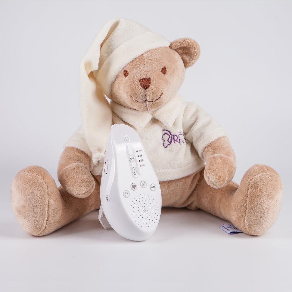 Умная игрушка для сна - Мишка бежевый с белым и розовым шумом по цене 3 261