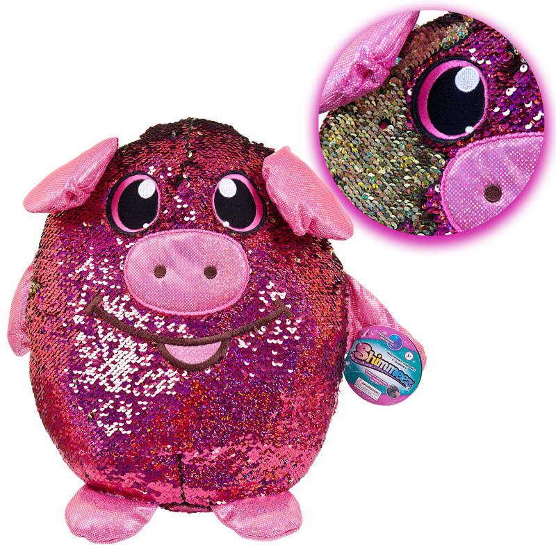 Мягконабивная фигурка Shimmeez/Шиммиз - Свинка в пайетках, 35 см