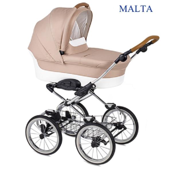 Коляска классическая Navington Caravel, колеса 12, цвет – MaltaДетские коляски-люльки<br>Коляска классическая Navington Caravel, колеса 12, цвет – Malta<br>