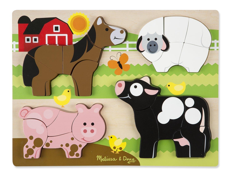 Мои первые пазлы - фермаПазлы для малышей<br>Мои первые пазлы - ферма<br>