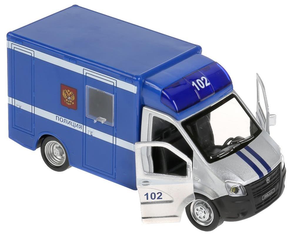 Купить Машина металлическая свет-звук Газель Next Полиция, 15 см., инерционная, Технопарк