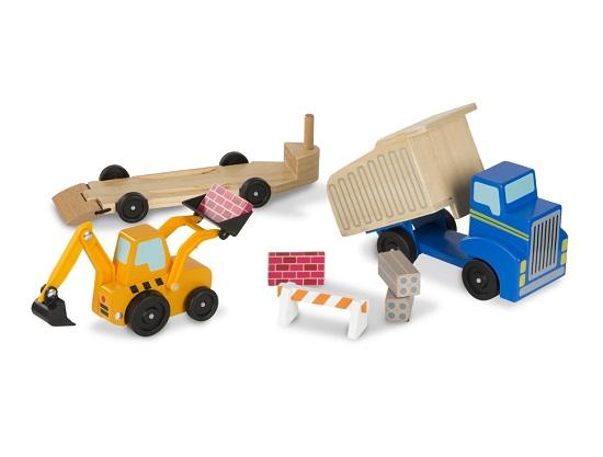 Набор машинок - Самосвал и погрузчикБетономешалки, строительная техника<br>Набор машинок - Самосвал и погрузчик<br>