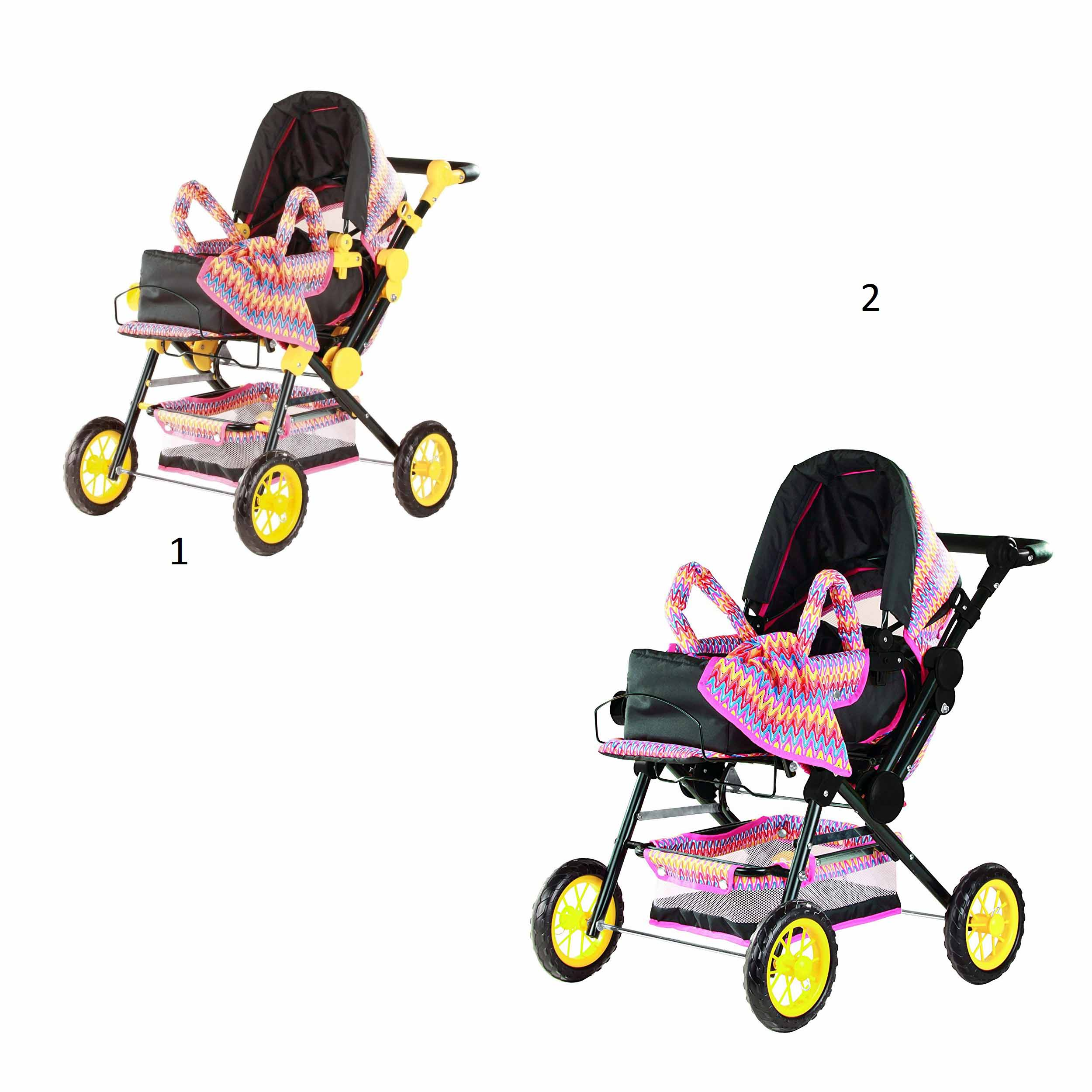 Четырехколесная коляска - ВолныКоляски для кукол<br>Четырехколесная коляска - Волны<br>