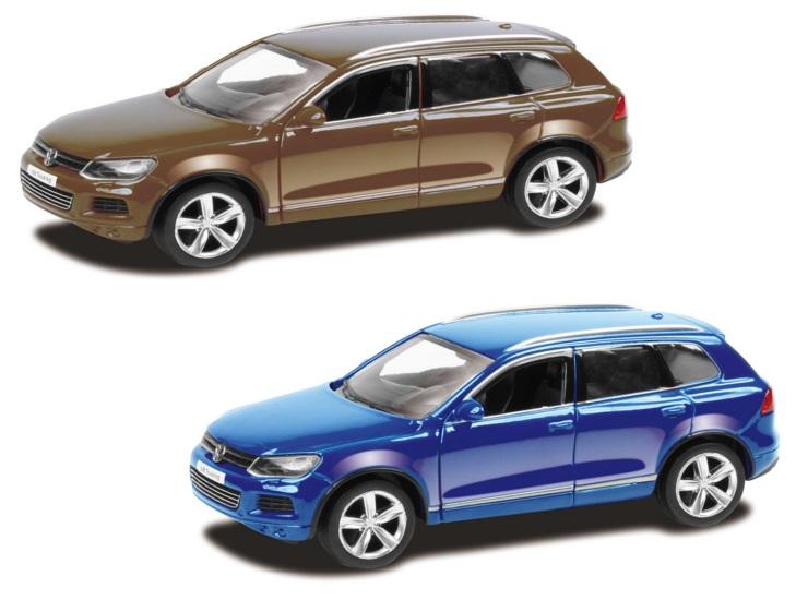 Машина металлическая Volkswagen Touareg 1:64, 2 цвета – синий или коричневыйVolkswagen<br>Машина металлическая Volkswagen Touareg 1:64, 2 цвета – синий или коричневый<br>