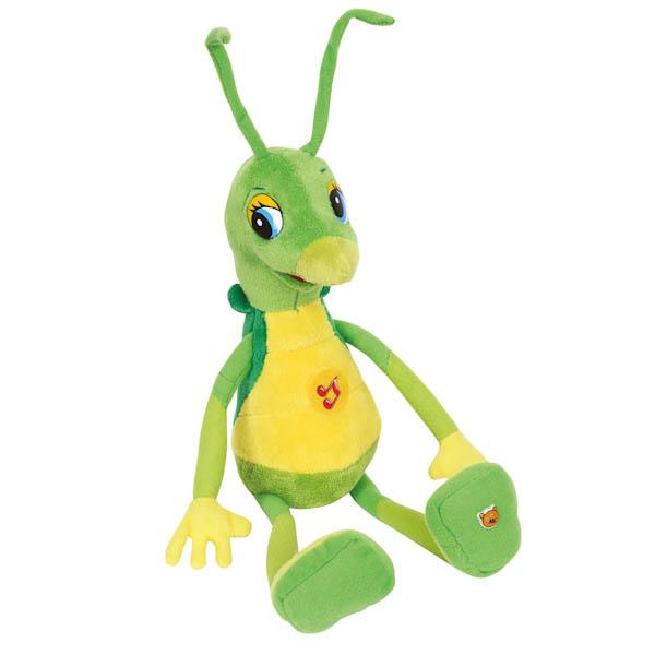 Озвученная мягкая игрушка - Кузнечик КузяГоворящие игрушки<br>Озвученная мягкая игрушка - Кузнечик Кузя<br>