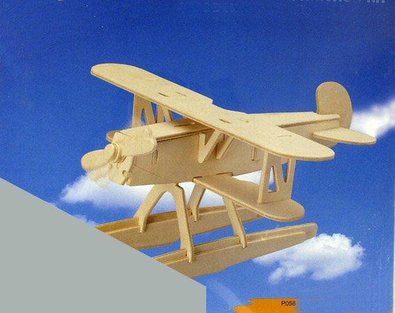 Сборная деревянная модель - Самолёт Хенкель НЕ51Пазлы объёмные 3D<br>Сборная деревянная модель - Самолёт Хенкель НЕ51<br>