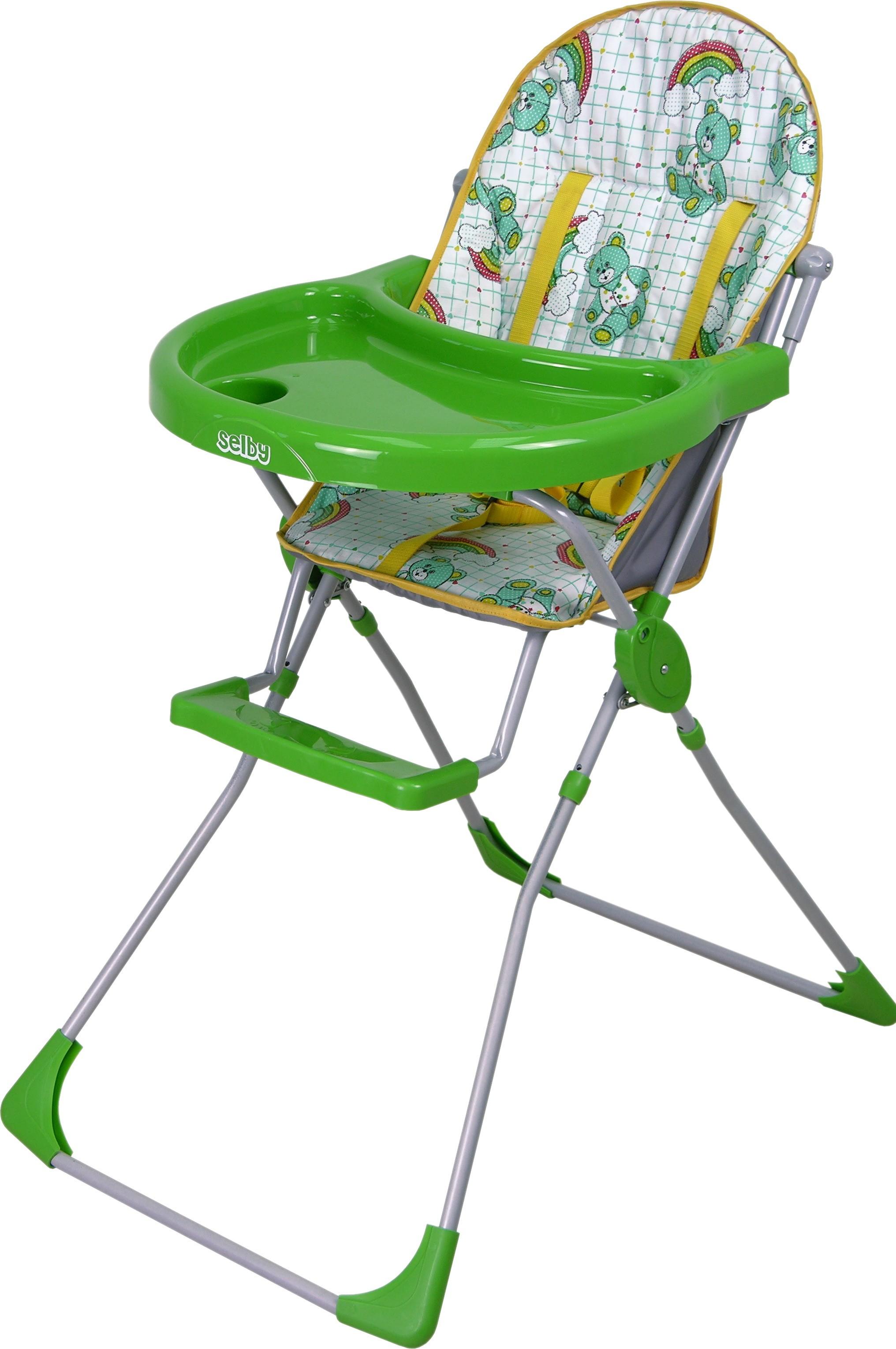 Стульчик для кормления Selby 152, зеленыйСтульчики для кормления<br>Стульчик для кормления Selby 152, зеленый<br>