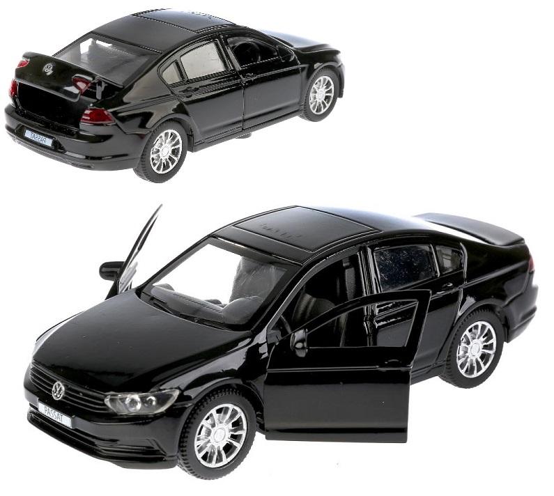 Купить Металлическая инерционная машина - VW Passat, 12 см, открываются двери, черный, Технопарк