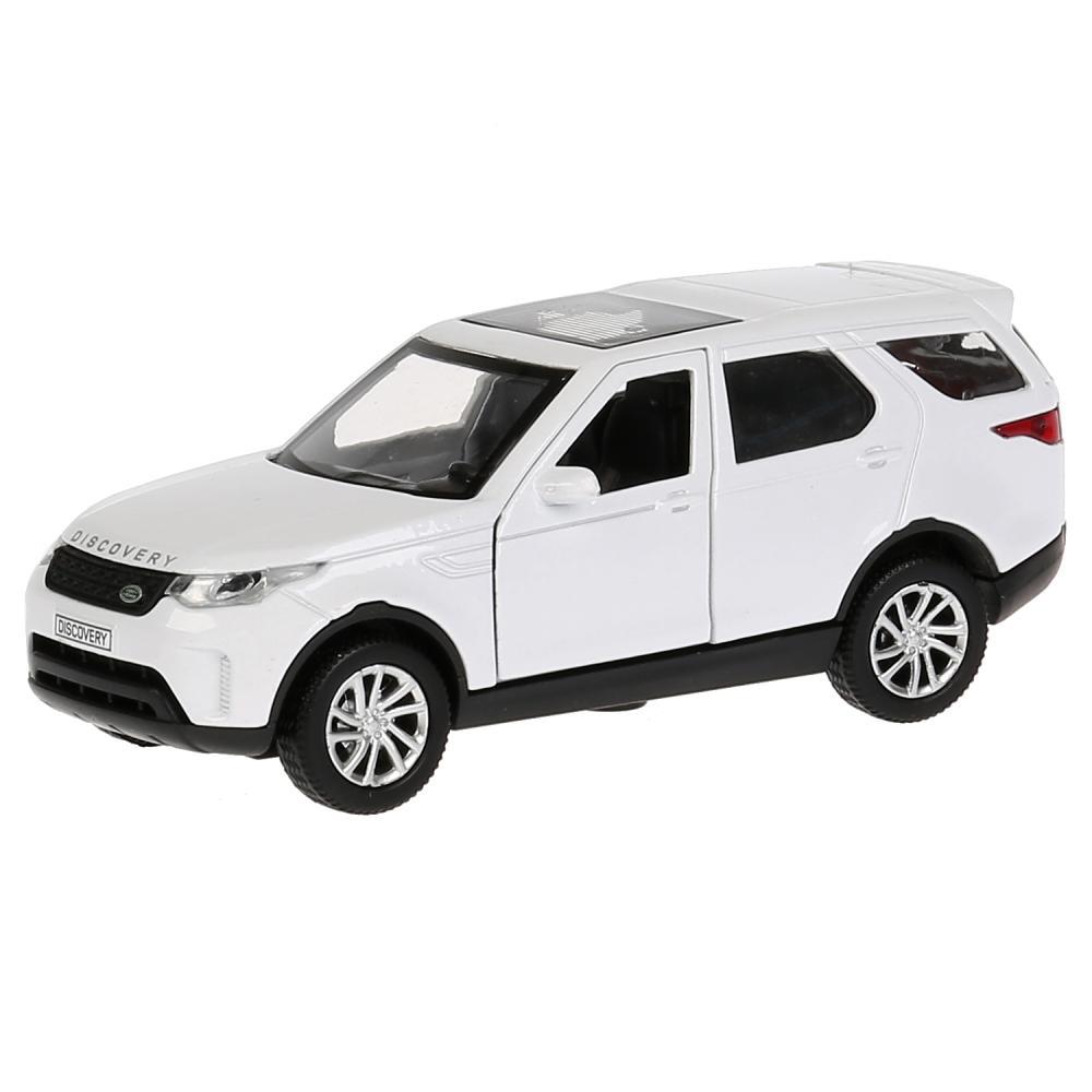 Купить Машина металлическая Land Rover Discovery, белая, 12 см, открываются двери, инерционная, Технопарк