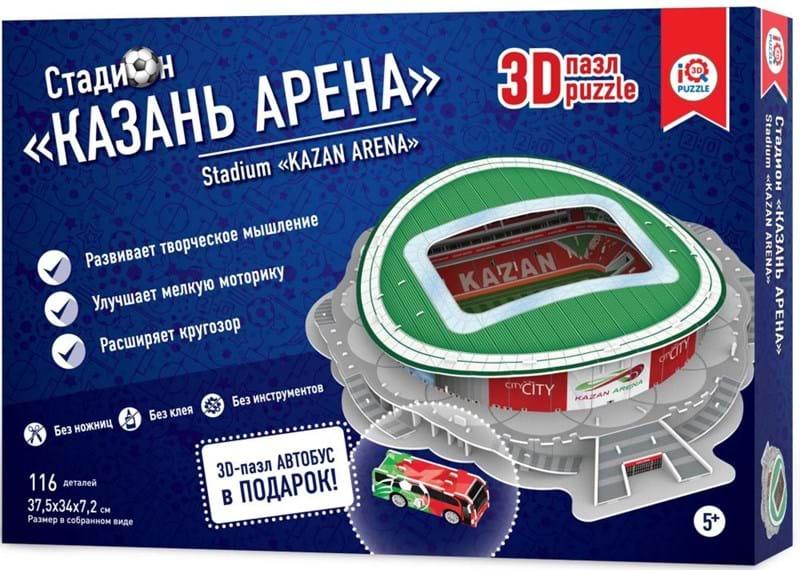 Купить Сборный 3D пазл из пенокартона – стадион Казань Арена, IQ 3D Puzzle