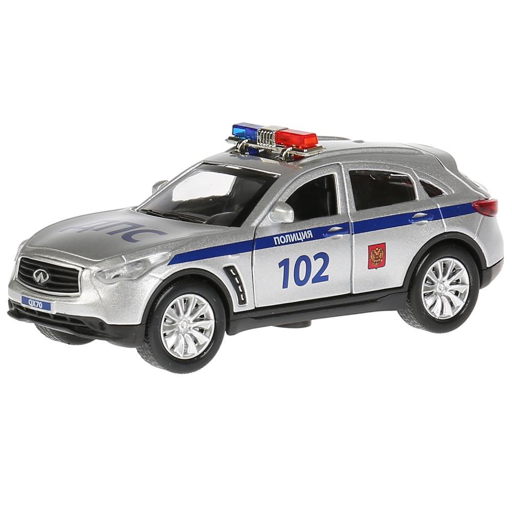 Купить Машина металлическая Infiniti Qx70 Полиция, 12 см., открываются двери, инерционная, Технопарк