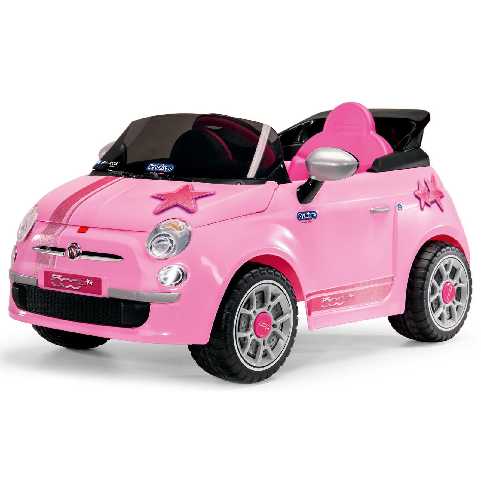 Купить Детский электромобиль Fiat 500 Star Pink R/C, цвет – розовый, Peg-Perego