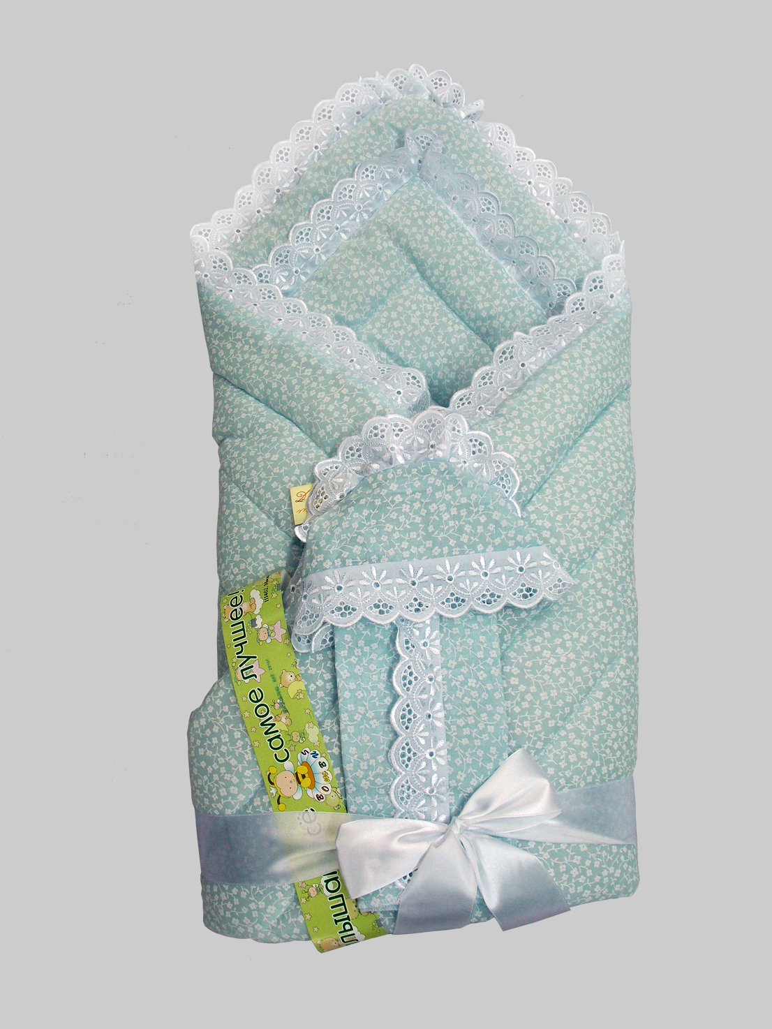Одеяло на выписку - Фунтик, 4 предмета, голубоеКомплекты на выписку<br>Одеяло на выписку - Фунтик, 4 предмета, голубое<br>