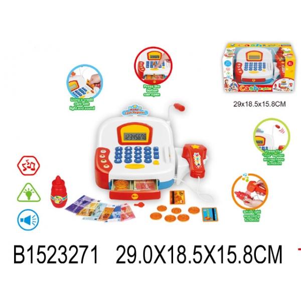 Кассовый аппарат со световыми и звуковыми эффектами - Детская игрушка Касса. Магазин. Супермаркет, артикул: 161387