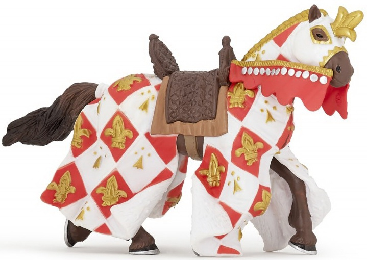 Фигурка лошади с символом Флер де Лис, белаяФигурки Papo<br>Фигурка лошади с символом Флер де Лис, белая<br>