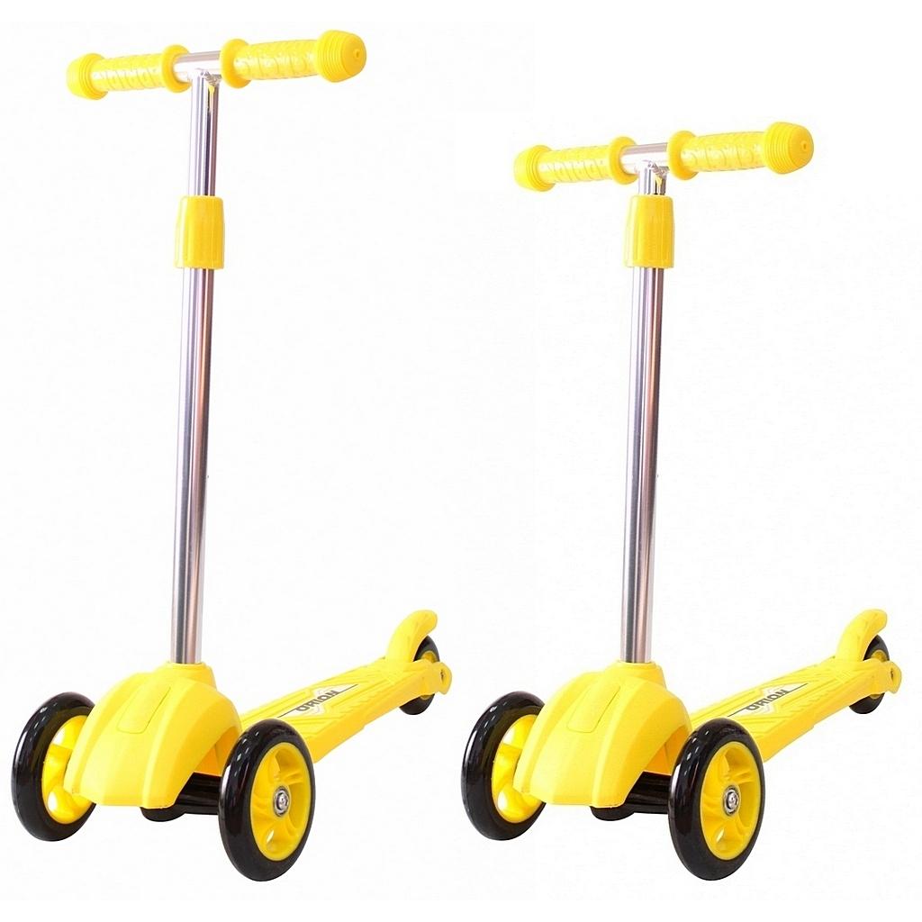 Купить Детский трехколесный самокат желтого цвета RT ORION MINI 164в2