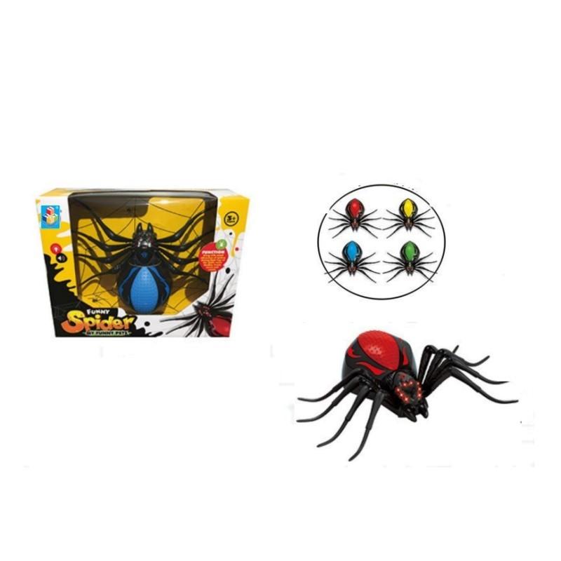 Интерактивная игрушка - Робо-паук, черно-красный, свет, звук, движение 1TOY