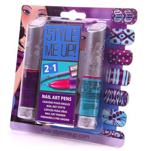 Купить Набор Style Me Up - Художественный маникюр 2 в 1, фиолетовый/голубой, Wooky Entertainment