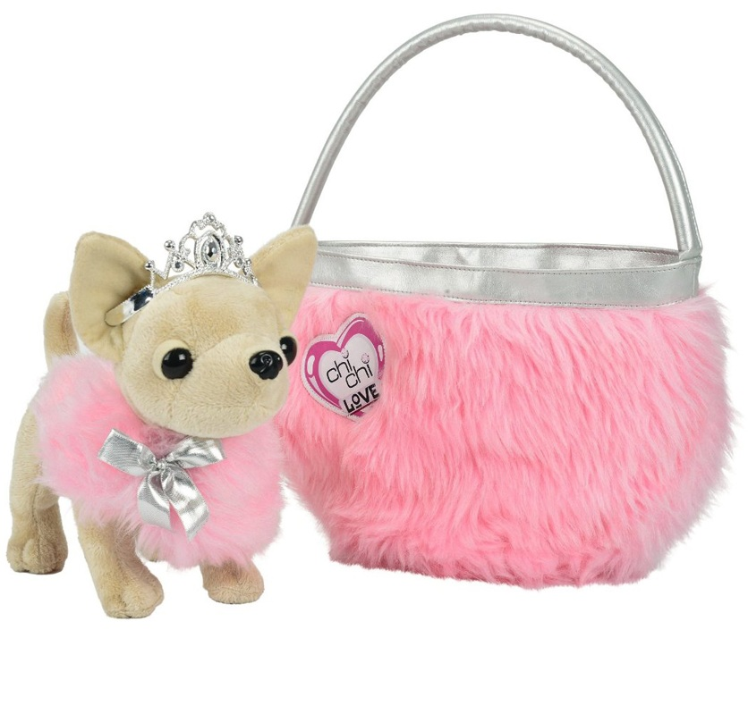 Игрушечная плюшевая собачка Чихуахуа. Принцесса - Chi Chi Love - cобачки в сумочке, артикул: 110411