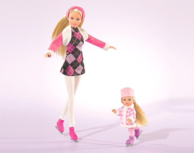 Игровой набор - Штеффи и Еви катаются на коньках