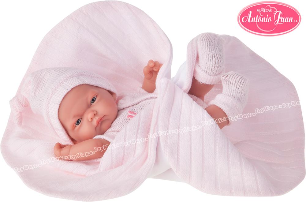 Кукла-младенец Карла в розовом одеяле, 26 см.Куклы Антонио Хуан (Antonio Juan Munecas)<br>Кукла-младенец Карла в розовом одеяле, 26 см.<br>