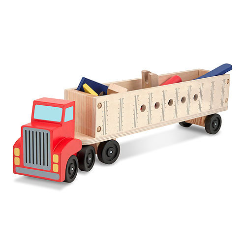 Купить Конструктор в прицепе из серии Классические игрушки, 22 детали, Melissa&Doug