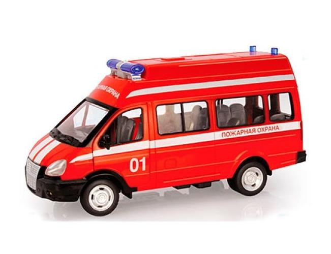 Инерционная модель - микроавтобус - Пожарная охрана со светом и звукомПожарная техника, машины<br>Инерционная модель - микроавтобус - Пожарная охрана со светом и звуком<br>