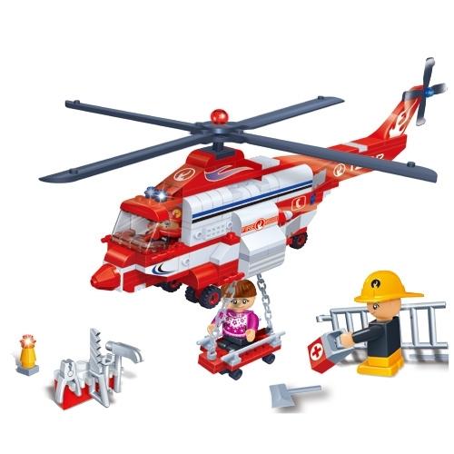 Конструктор с аксессуарами - Пожарный вертолёт