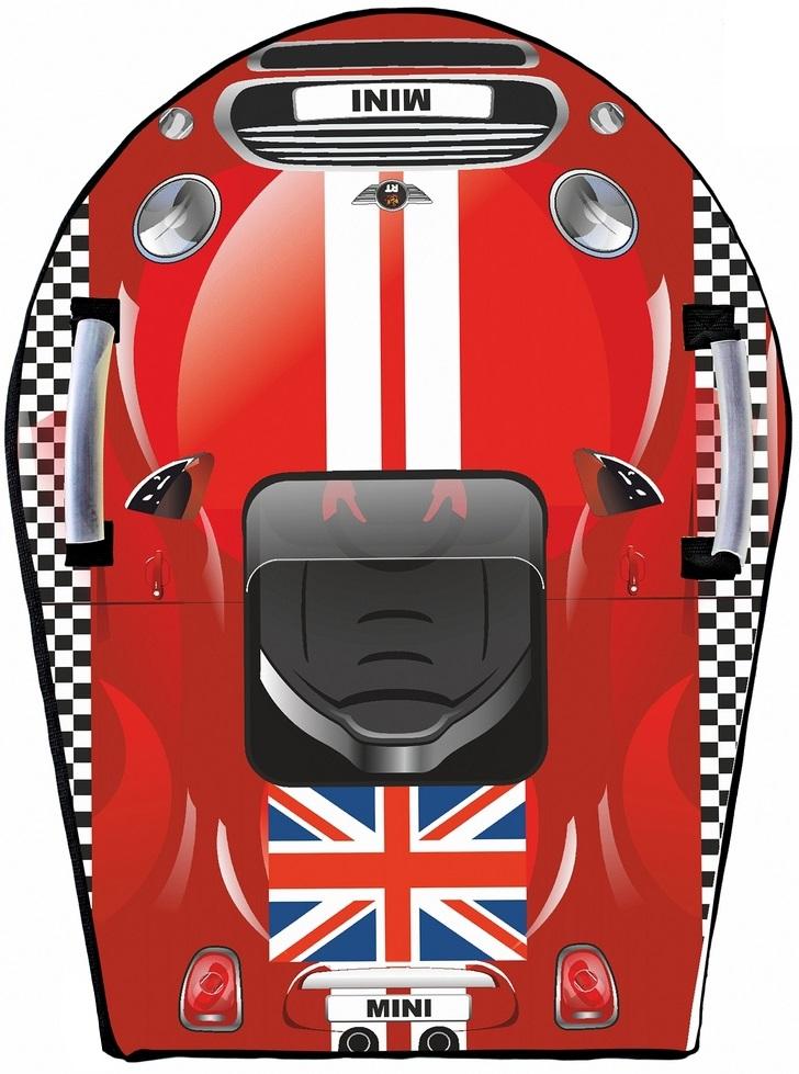 Ледянка Snow auto Mini Cooper, цвет красный - Зимние товары, артикул: 148484