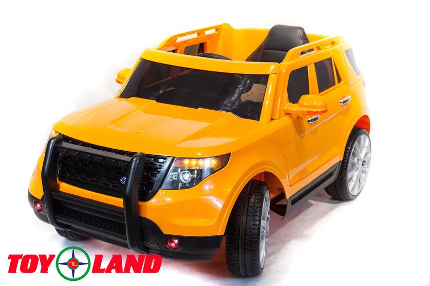 Электромобиль Ford Explorer, оранжевого цветаЭлектромобили, детские машины на аккумуляторе<br>Электромобиль Ford Explorer, оранжевого цвета<br>
