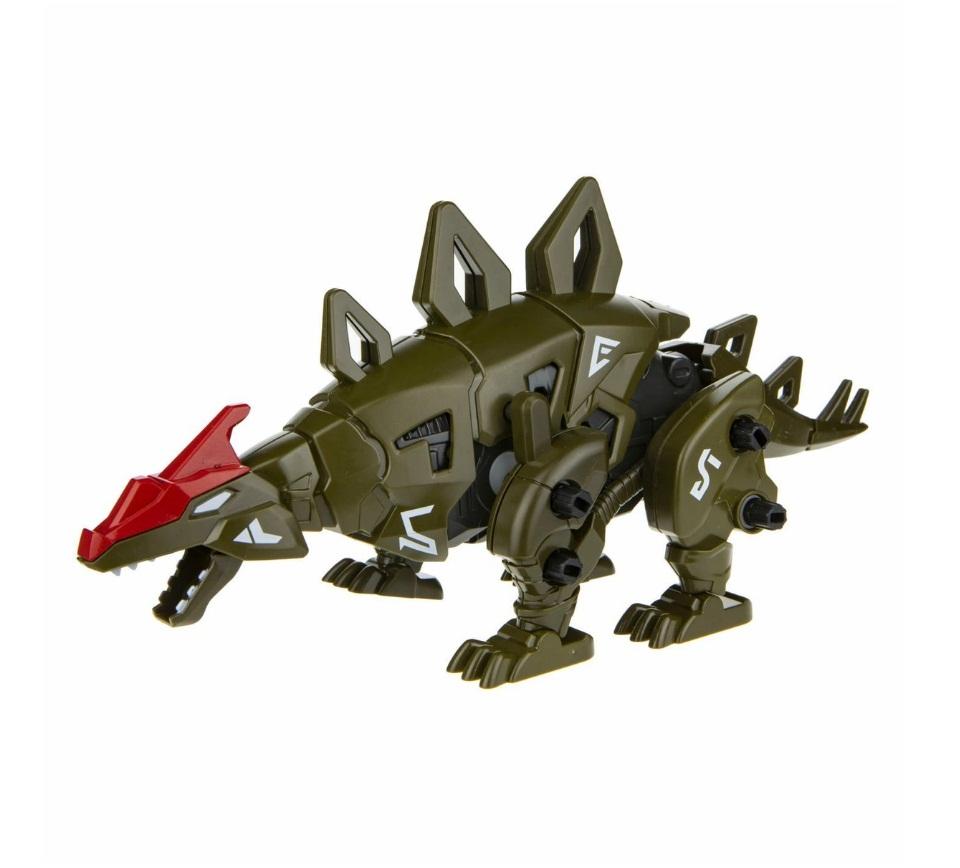 Сборная модель RoboLife - Робо-стегозавр, зеленый, 49 деталей 1TOY