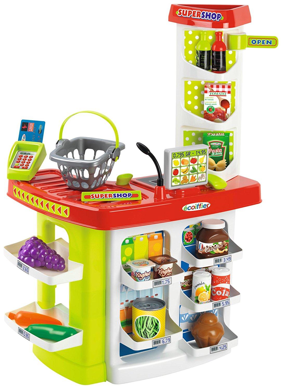 Супермаркет с корзиной и товарами, 20 предметовДетская игрушка Касса. Магазин. Супермаркет<br>Супермаркет с корзиной и товарами, 20 предметов<br>