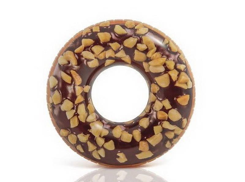Круг надувной - Пончик шоколадный, 9+