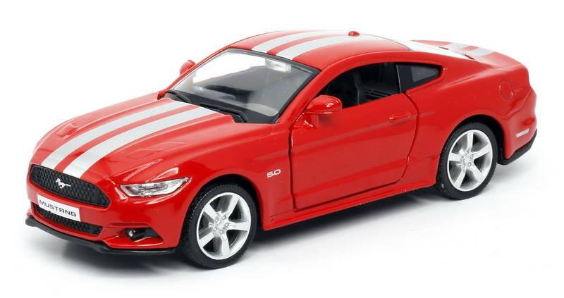 Купить Машина инерционная металлическая Ford 2015 Mustang with Strip, цвет красный, 1:32, RMZ City