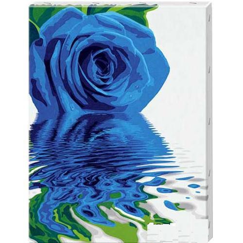 Раскраска Синяя розаРаскраски по номерам Schipper<br>Раскраска Синяя роза<br>